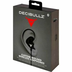 Decibullz Wl2 blk Custom Molded Fit Wireless Bluetooth Earphones In Black