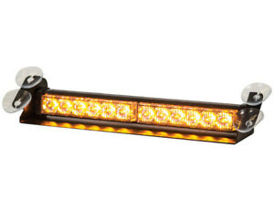 Buyers Products 8891024 Amber Dashboard Light Bar W 12 Led 14 X 3 75 X 2 5