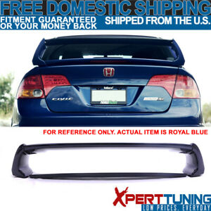 Fits 06 11 Honda Civic Mugen Style Trunk Spoiler Painted Royal Blue Pearl