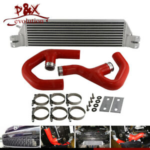 Red Turbo Twin Intercooler Kit For Vw Golf Mk5 Mk6 Gti Fsi Jetta 2 0t A3 06 09