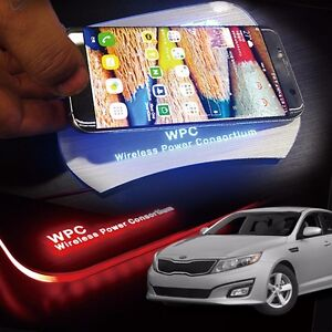 Led Wireless Battery Charger Cup Holder Door Catch Plate For Kia 2011 15 Optima