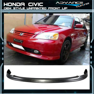 For 01 03 Honda Civic Oem Factory Bumper Lip Spoiler Pp