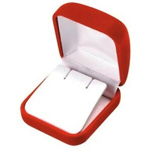 Wholesale Lot Of 48 Red Velvet Post Earring Jewelry Packaging Gift Boxes S