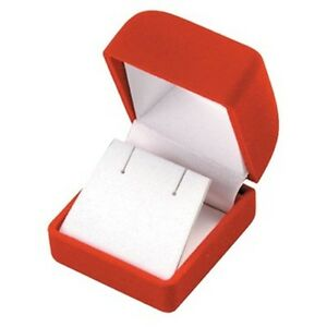Wholesale Lot Of 48 Red Velvet Post Earring Jewelry Packaging Gift Boxes Sm