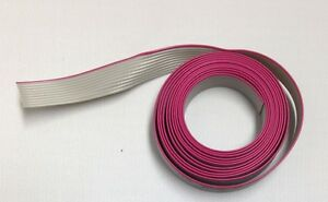 Flat Cable 10 Pin 10 Wires Idc Ribbon Roll 6 Ft Long 12mm Wide