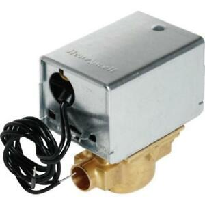 Honeywell 24 Volt Hydronic Zone Valve With 1 2 Sweat Connect Man Open Lvr