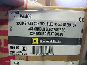 Square D Pam02 Electrical Operation For Pa Circuit Breakers new