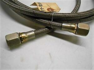 10 Braided Stainless Steel Fuel Oil Gas Line Hose Fabulous Condidtion