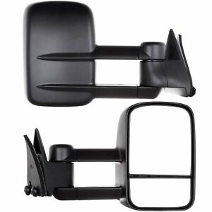Manual Telescopic Towing Mirrors For 1988 98 Chevy C K Truck Side Mirrors Pair