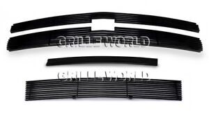 Aluminum Black Billet Grille Combo For 2007 2012 Chevy Silverado 1500