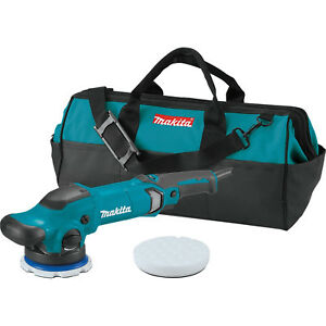 Makita 5 Dual Action Random Orbit Polisher Kit W Pads And Tool Bag Po5000cx1