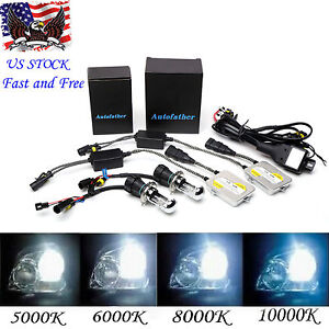 55w H4 9003 Hb2 Hid Kit Hi Low Double Xenon Beam Headlight Canbus Relay Harness