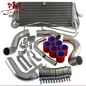 Turbo Bolt On Front Mount Intercooler Kit For Mazda Rx7 Rx 7 Fd3s Fd3 93 97 Red