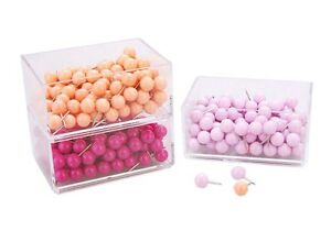 360 Pieces Round Pushpins drawing Pins For School Or Office