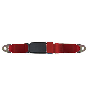 2 Point Replacement Seat Belt End Button Release 74 Inch Red