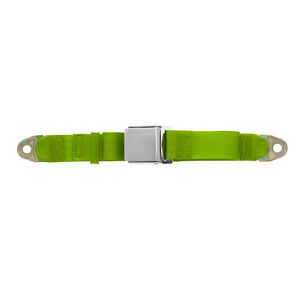 Replacement 2 Point Lap Seat Belt Chrome Lift Latch 74 Inch Green