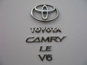 2006 Toyota Camry Le V6 Rear Chrome Emblem Logo Badge Symbol Sign 02 03 04 05 06