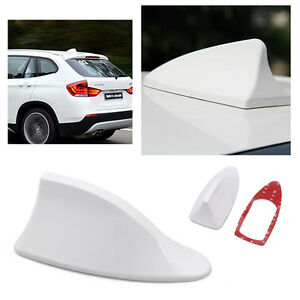 Universal Car Auto Roof Radio Am Fm Shark Fin Style Antenna Aerial Signal White