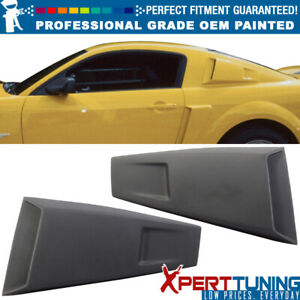 05 14 Ford Mustang Eleanor Style Painted Pp Window Louver Oem Painted Color