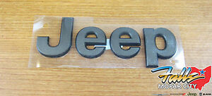 2014 2018 Jeep Grand Cherokee Front Hood Bronze Jeep Emblem Nameplate Oem