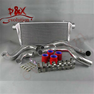 Red Intercooler aluminum Pipe Kit For Nissan Silvia S13 180sx Ca18det Fmic 89 91