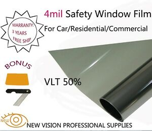 New Vision 4mil Vlt50 Security And Safety Window Films 50cmx3m High Quality