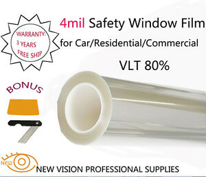 New Vision 4mil Vlt80 Security And Safety Window Films 76cmx3m High Quality