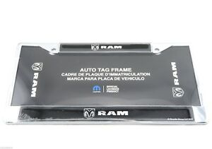 Dodge Ram Truck Chrome Dome Metal Auto Tag License Plate Frame