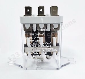 New Dryer relay 24v 50 60hz 3pst no Pkg 70210901p For Ipso