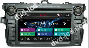 Car Dvd Gps Navigation Head Unit Radio Stereo Tv For Toyota Corolla 2007 2012
