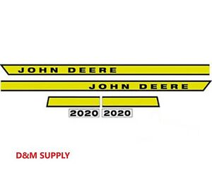 John Deere 2020 Tractor Decal Set Hood Stickers