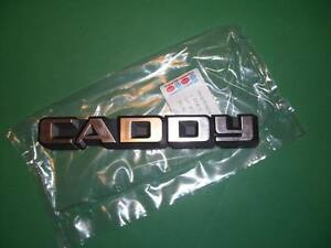 Vw Rabbit Pickup Mk1 Caddy Tailgate Badge Emblem Nos