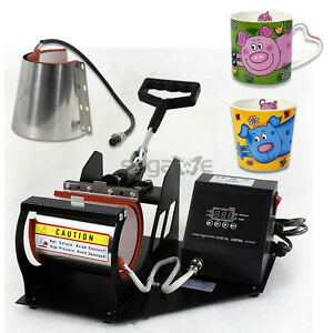 2in1 Sublimation Heat Transfer Press Machine For Coffee Latte Mug Cup Usage