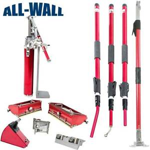 Level5 Drywall Finishing Set W extendable Handles 10 12 Boxes new