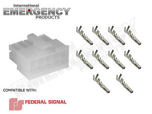 10 Pin Connector Plug For Federal Signal Pa300 Siren 69000 690001 690002 690004