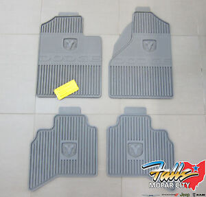 2006 2008 Dodge Ram 1500 3500 Quad Cab Rubber Slush Floor Mats Mopar Oem