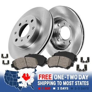 Front Brake Rotors And Ceramic Pads For 2002 2004 2005 2006 Mitsubishi Lancer