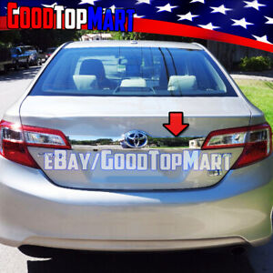 For Toyota Camry 2012 2013 2014 Chrome Tailgate Liftgate Logo Area Outline Cover