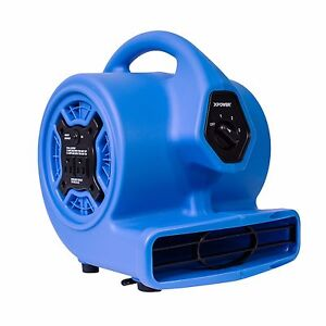 Xpower P 100a 1 8 Hp Mini Air Mover Carpet Dryer Blower Floor Fan W Dual Outlet