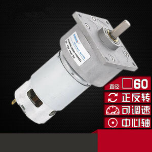 Zga60fm g Dc 12v 24v Rotate Speed Connector 8mm Dia Shaft Geared Motor 5 1200rpm