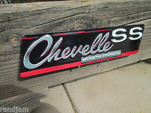 Chevrolet Chevy Chevelle Ss Embossed Metal Signs Man Cave Shop Garage Cool