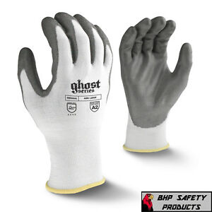 Radians Ghost Cut Resistant Work Gloves Level A2 Pu Palm Rwg550 sm 2xl