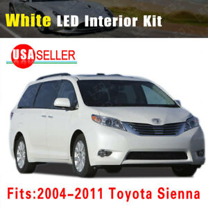 14x White Led Bulb Lights Interior Package Kit Deal For 2004 2011 Toyota Sienna