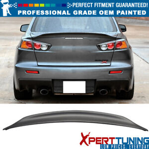 Fit 08 17 Mitsubishi Lancer D Style Painted Abs Trunk Spoiler oem Painted Color