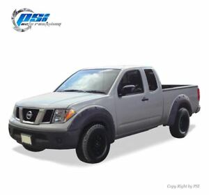 Black Paintable Pop Out Fender Flares 05 14 Fits Nissan Frontier 73 3 Styleside