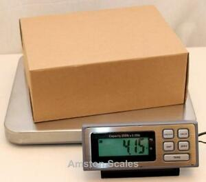 200 Lb X 0 05 Lb Digital Postal Postage Shipping Scale Stainless Steel Platform