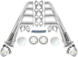 New Lake Style Chrome Plated Headers W Ceramic Turnouts bbc 366 502 V 8 hot Rod