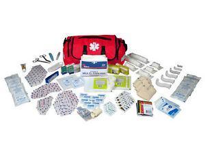 On Call First Aid Responder Paramedic Medical Emt Trauma Kit Fully Stocked Red
