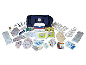 On Call First Aid Responder Paramedic Medical Emt Trauma Kit Fully Stocked Blue