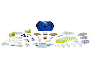 First Aid Responder Ems Medical Emt Emergency Trauma Kit Fully Stocked Blue